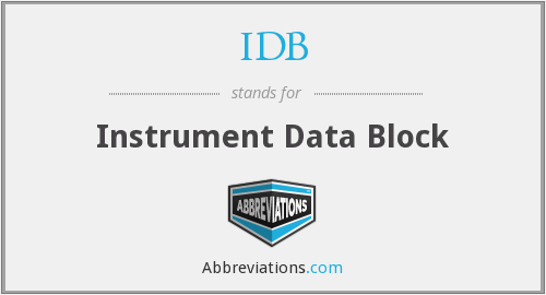 IDB - Instrument Data Block