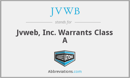 JVWB - Jvweb, Inc. Warrants Class A