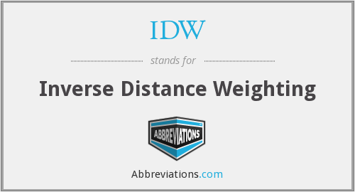 What does IDW stand for?