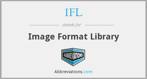 IFL - Image Format Library
