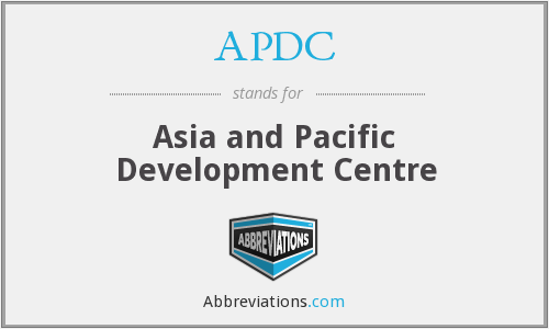 APDC - Asia and Pacific Development Centre