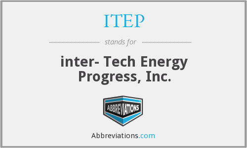 ITEP - inter- Tech Energy Progress, Inc.