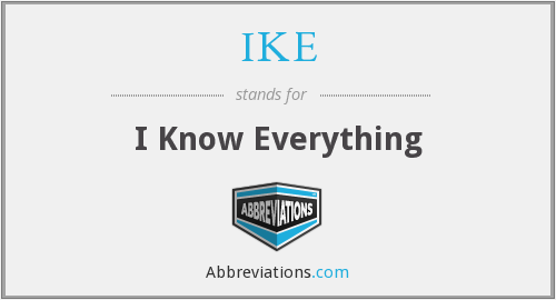 IKE - I Know Everything