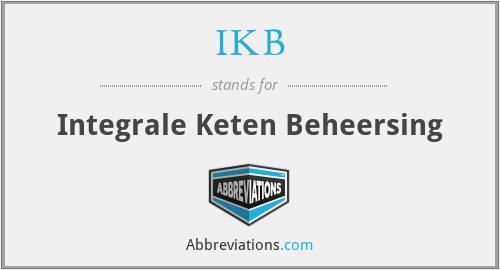 IKB - Integrale Keten Beheersing