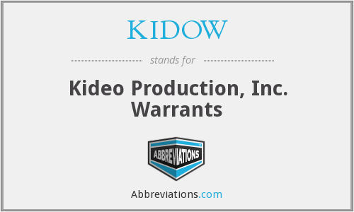What does KIDOW stand for?