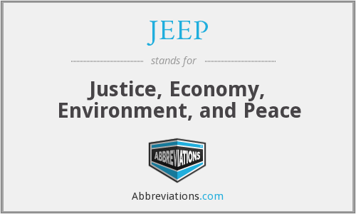 JEEP - Justice, Economy, Environment, and Peace