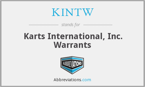 What does KINTW stand for?