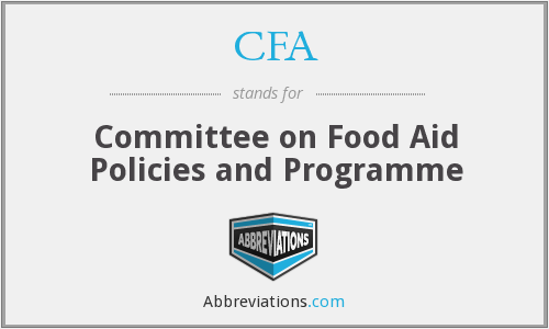 CFA - Committee on Food Aid Policies and Programme