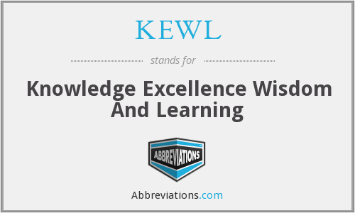 KEWL - Knowledge Excellence Wisdom And Learning