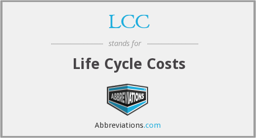 LCC - Life Cycle Costs