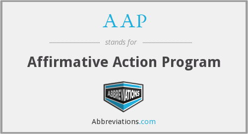 AAP - Affirmative Action Program