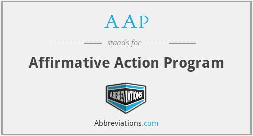AAP - Affirmative Action Program
