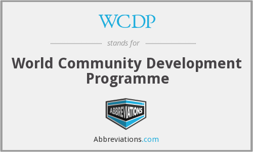 WCDP - World Community Development Programme