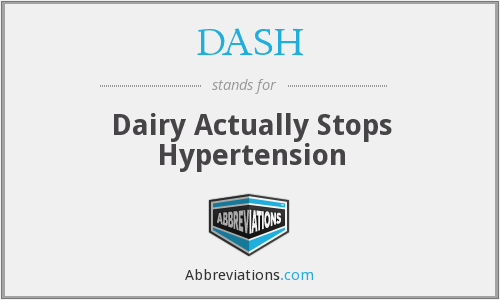 DASH - Dairy Actually Stops Hypertension