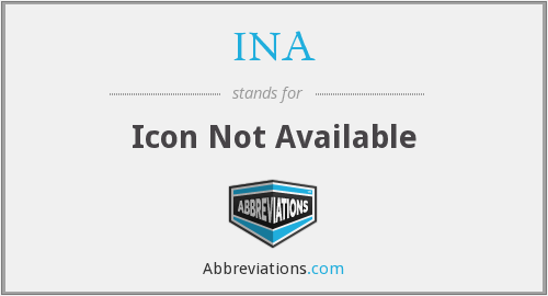 INA - Icon Not Available
