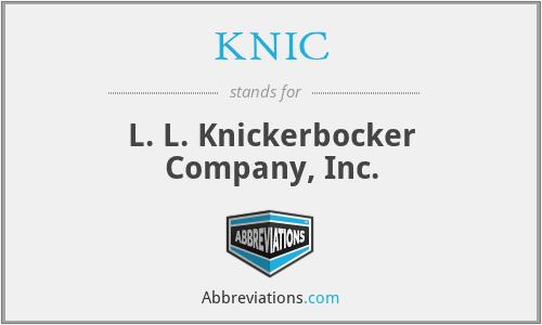 KNIC - L. L. Knickerbocker Company, Inc.