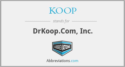 KOOP - DrKoop.Com, Inc.