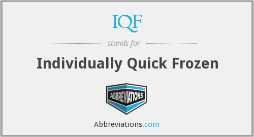 IQF - Individually Quick Frozen