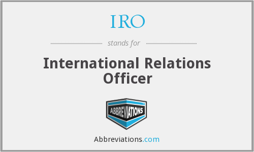 IRO - International Relations Officer