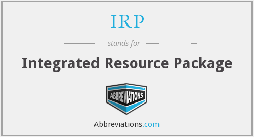 IRP - Integrated Resource Package