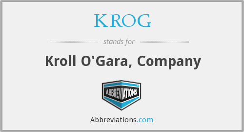 What does KROG stand for?