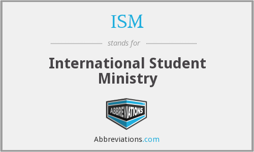 ISM - International Student Ministry