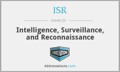 ISR - Intelligence, Surveillance, and Reconnaissance