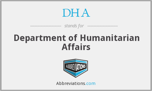 DHA - Department of Humanitarian Affairs