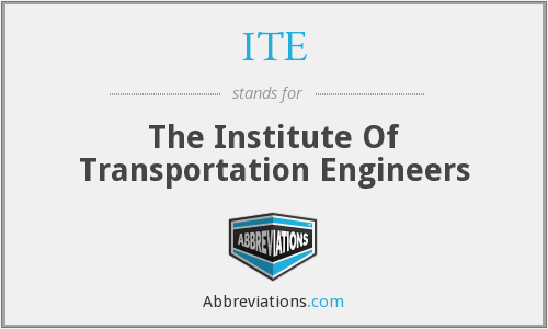 ITE - The Institute Of Transportation Engineers