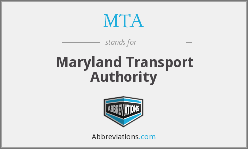 MTA - Maryland Transport Authority