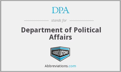 DPA - Department of Political Affairs