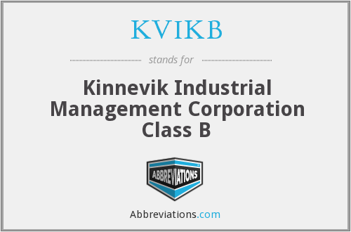 KVIKB - Kinnevik Industrial Management Corporation Class B