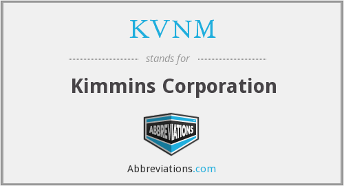 What does KVNM stand for?