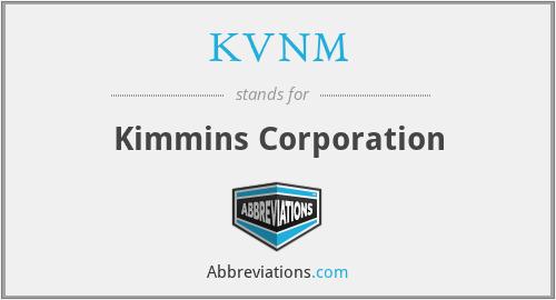 KVNM - Kimmins Corporation