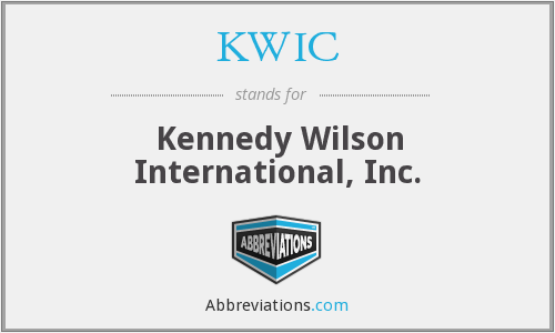 KWIC - Kennedy Wilson International, Inc.