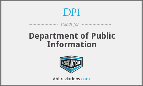 DPI - Department of Public Information