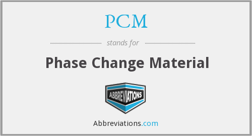 PCM - Phase Change Material
