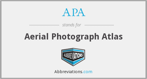APA - Aerial Photograph Atlas