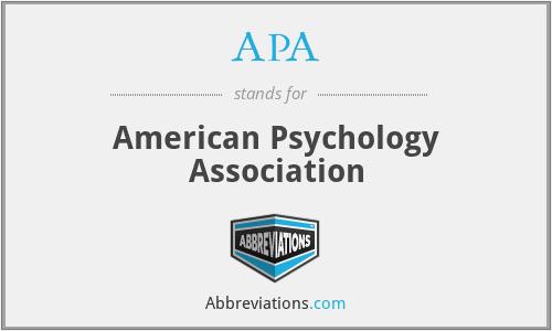 APA - American Psychology Association