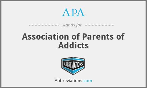 APA - Association of Parents of Addicts