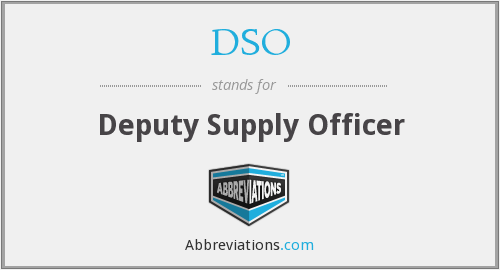 DSO - Deputy Supply Officer