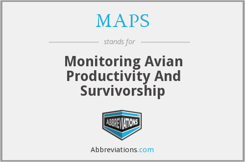 MAPS - Monitoring Avian Productivity And Survivorship