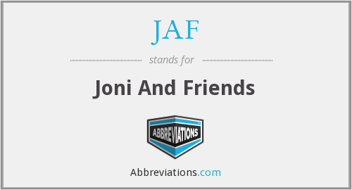 JAF - Joni And Friends