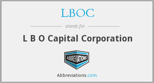 What does LBOC stand for?