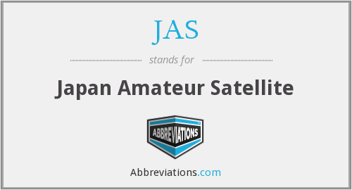 JAS - Japan Amateur Satellite