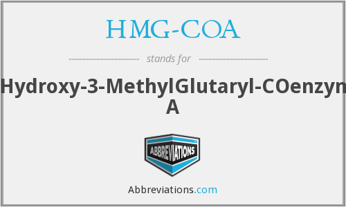 What does HMG-COA stand for?
