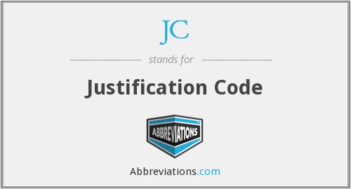 JC - Justification Code