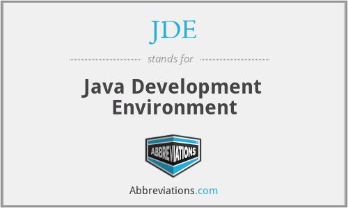 JDE - Java Development Environment