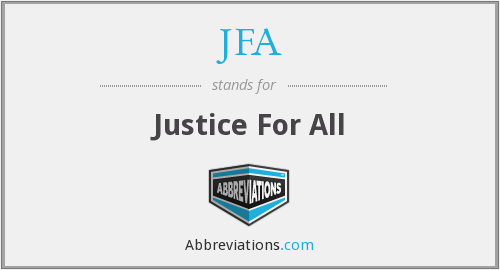 JFA - Justice For All