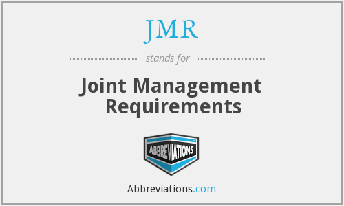 What does JMR stand for?